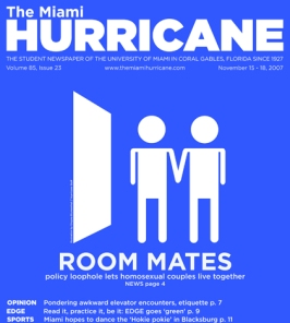 November 15-18 cover of The Miami Hurricane