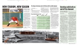 The Miami Hurricane Newspaper, February 2009, Coral Gables, Fl. Special Section: Baseball Doubletruck. Columbia Scholastic Press Association, Honorable Mention, Special Section Feature Package.