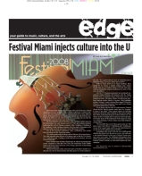 The Miami Hurricane Newspaper, October 2008, Coral Gables, Fl. Columbia Scholastic Press Association Gold Circle Award, Second Place, Feature Page Design.