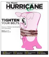 The Miami Hurricane Newspaper, February 2009, Coral Gables, Fl. Columbia Scholastic Press Association Gold Circle Award, Computer Generated Illustration, Second Place.